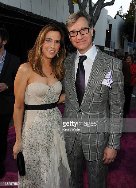 Coproducer/writer/actress Kristen Wiig and director Paul Feig attend the Premiere Of Universal Pictures' 'Bridesmaids' at Mann Village Theatre on...
