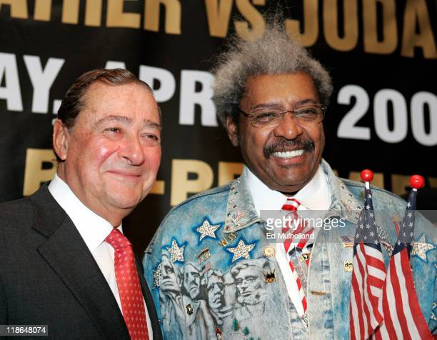 Copromoters Bob Arum and Don King at the press conference announcing the upcoming fight between IBF Welterweight Champion Zab Judah and Floyd...