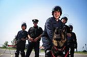 Cops in action