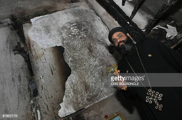 Coptic priest Timothaous Yani a priest at the Sanctuary of the Church of the Virgin Mary in Sakha outside the city of Kafr elSheikh in Egypt's Nile...