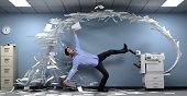 Man blown away by a copier malfunction
