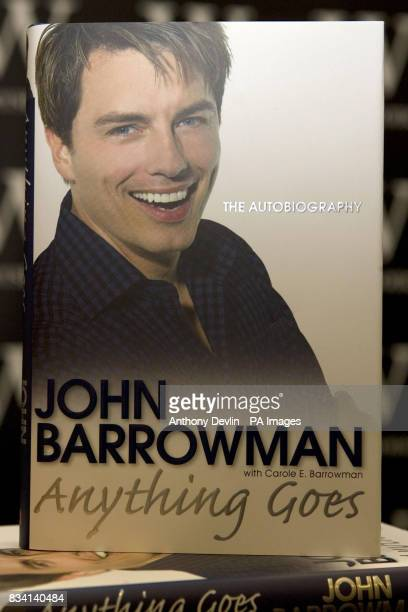 A copy of actor John Barrowman's autobiography cowritten by his sister Carole Barrowman at a book signing in Waterstones on Oxford Street central...