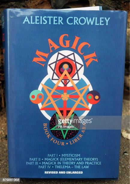 A copy of 'Magick' by controversial writer Aleister Crowley similar to the one found by police in the Peterborough home of Ruth Neave after the...