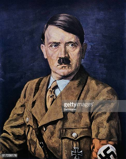 Copy of painting of Adolf Hitler from the book Adolf HitlerBilder Aus Dem Leben Des Fuehrers