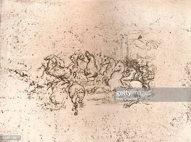Copy of part of the cartoon of the Battle of Anghiari c1505c1523 From The Literary Works of Leonardo Da Vinci Vol 1 by Jean Paul Richter PH DR...