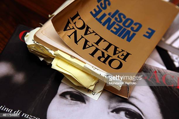A copy of the book Nothing and so be it by the writer and journalist Oriana Fallaci kept at home by Edoardo Perazzi writer's nephew and sole heir...