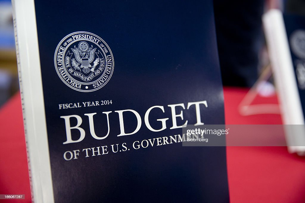 A copy of the Fiscal Year 2014 Budget sits on display at the U.S. Government Printing Office in Washington, D.C., U.S., on Monday, April 8, 2013. Less than a week after job-creation figures fell short of expectations and underscored the U.S. economy's fragility, President Barack Obama will send Congress a budget that doesn't include the stimulus his allies say is needed and instead embraces cuts in an appeal to Republicans. Photographer: Andrew Harrer/Bloomberg via Getty Images