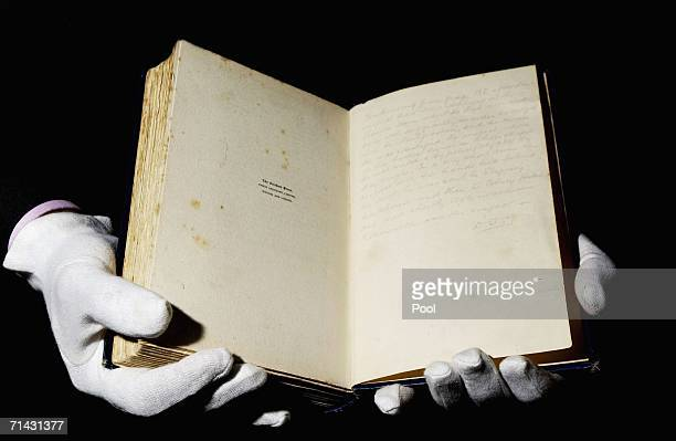 A copy of 'The Lighter Side Of My Life' is displayed at the Crime Museum at New Scotland Yard on July 13 2006 in London The book was donated by...