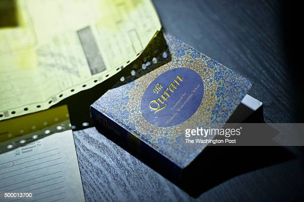 A copy of the Quran lies on the living room table of the San Bernardino shooting suspects' home which was raided by law enforcement on Wednesday On...