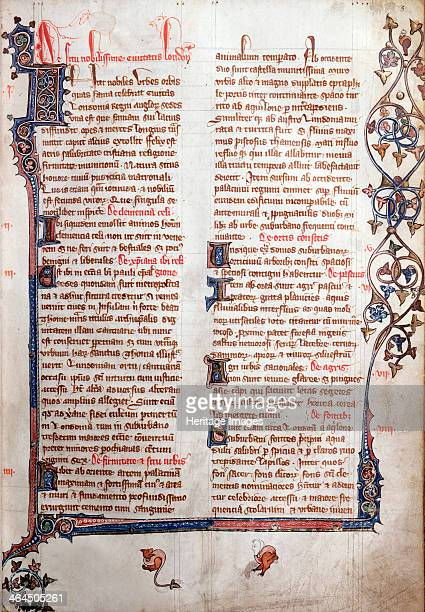 Copy of William Fitzstephen's description of London 14th century The opening of a copy of the description originally written in the 12th century as...