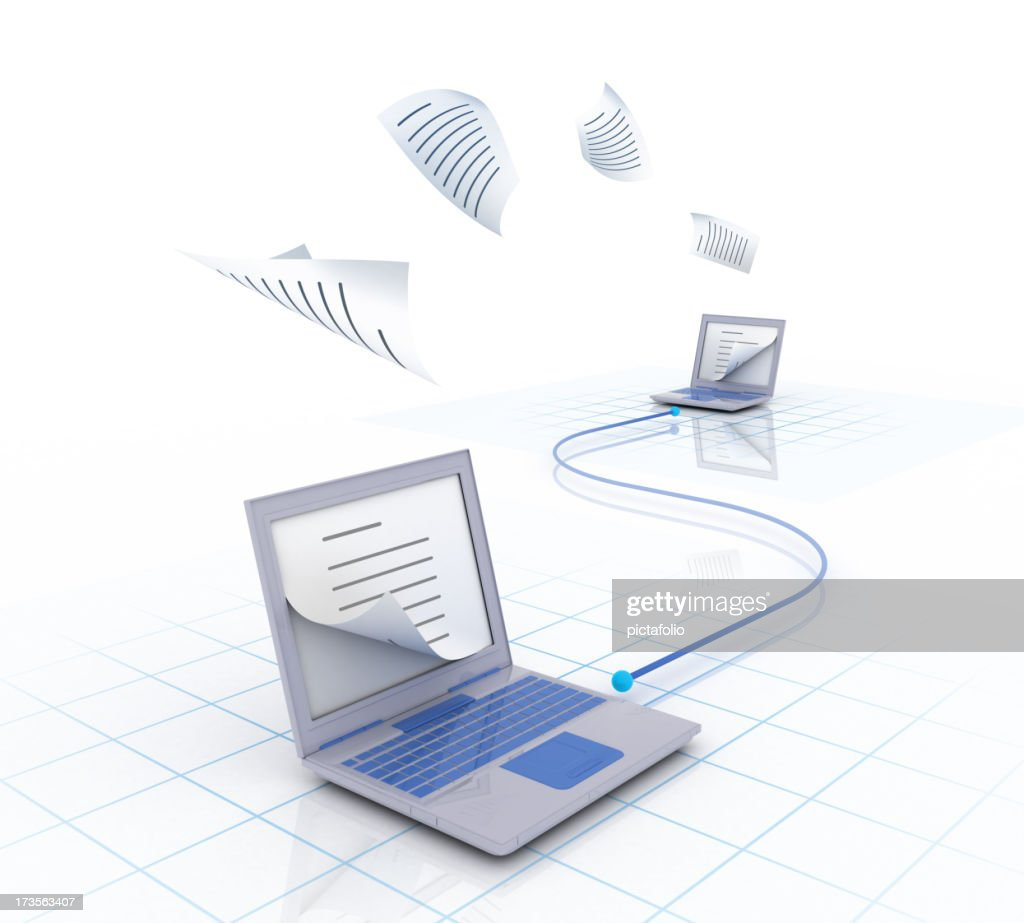 copy over network : Stock Photo