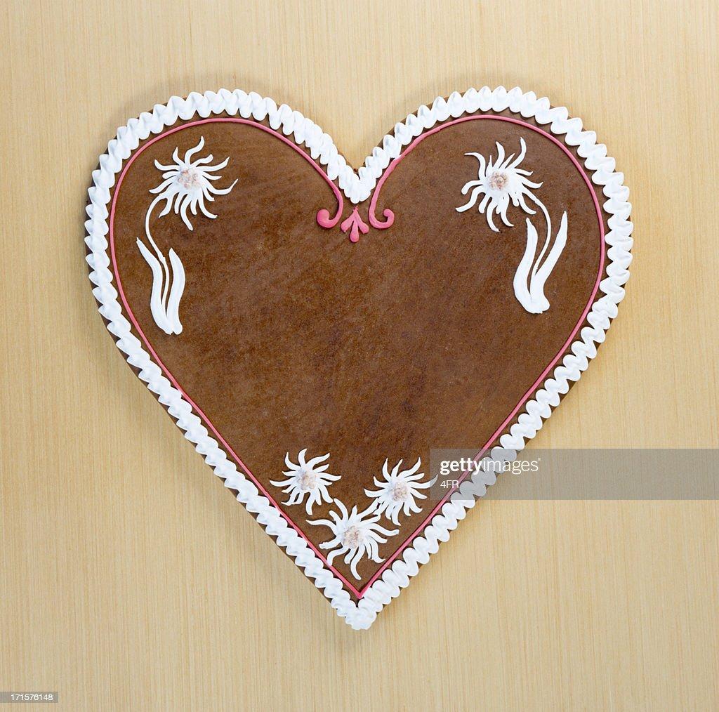 Copy space Gingerbread Cookie Heart, Oktoberfest (XXXL)
