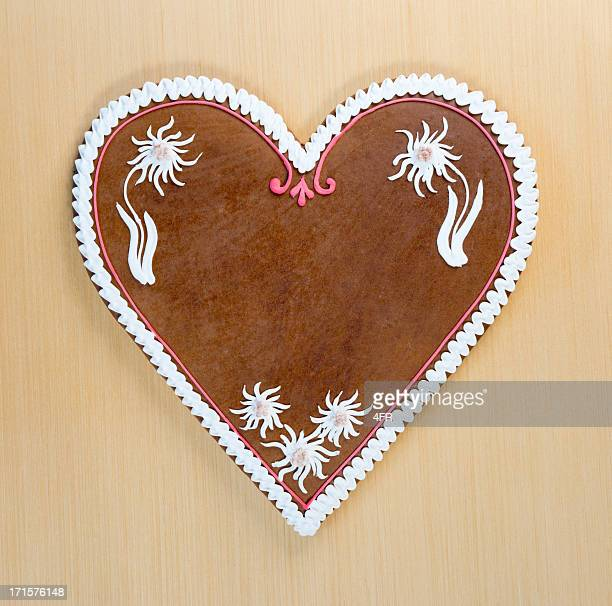 Copy space Gingerbread Cookie Heart, Oktoberfest (XXXL)