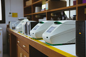 DNA copying in real time PCR thermal cycler in lab
