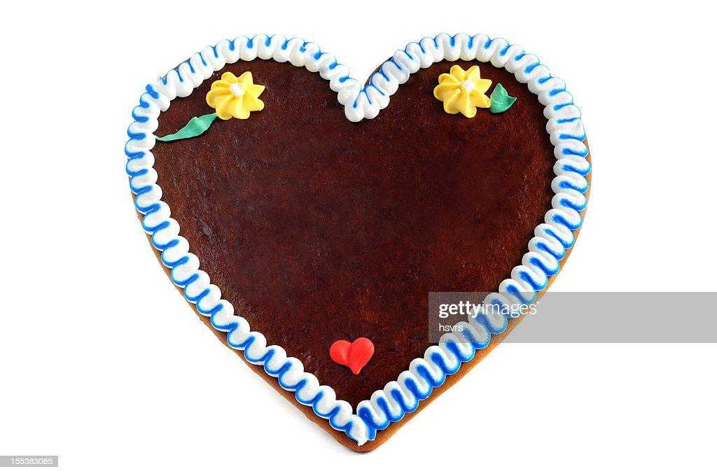 copyspace gingerbread cookie heart