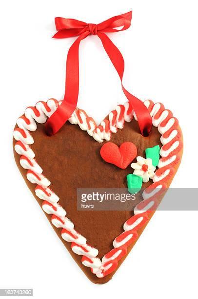 copyspace de Biscoito de Gengibre Coração