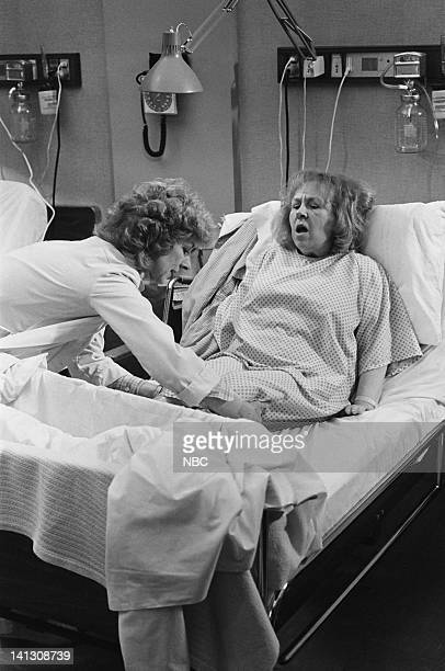ST ELSEWHERE 'Cora and Arnie' Episode 4 Pictured Christina Pickles as Nurse Helen Rosenthal Doris Roberts as Cora Photo by Paul Drinkwater/NBCU Photo...