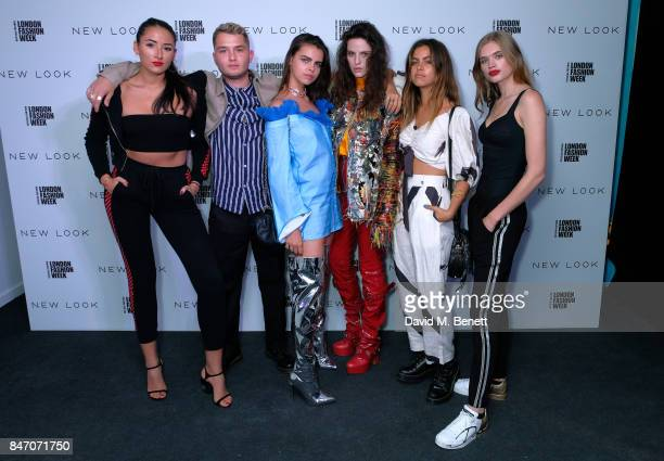 Cora Corre Rafferty Law Bee Beardsworth Daisy Maybe Mimi Elashiry and Ella Merryweather attend the exclusive New Look and British Fashion Council...