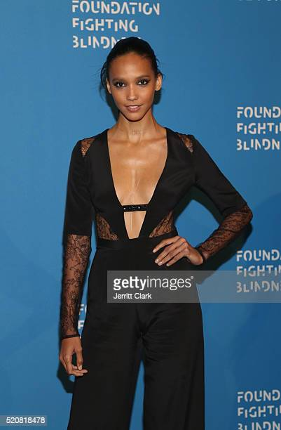 Cora Emmanuel attends the 2016 Foundation Fighting Blindness World Gala at Cipriani Downtown on April 12 2016 in New York City
