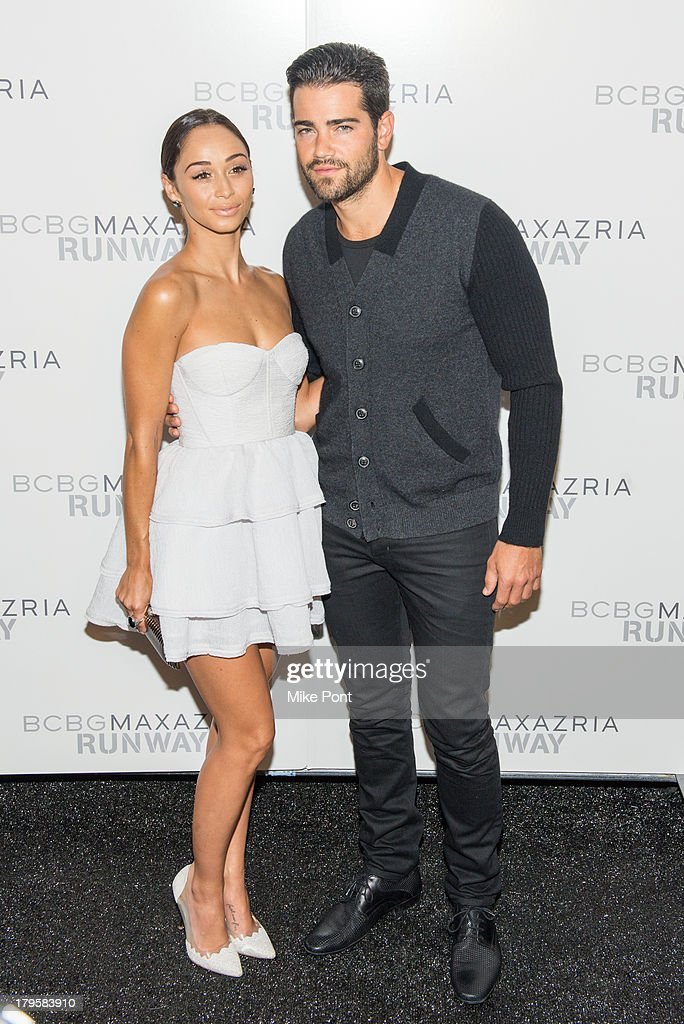 Cora Santana and <a gi-track='captionPersonalityLinkClicked' href=/galleries/search?phrase=Jesse+Metcalfe&family=editorial&specificpeople=208805 ng-click='$event.stopPropagation()'>Jesse Metcalfe</a> attend the BCBGMAXAZRIA Spring 2014 fashion show at The Theatre Lincoln Center on September 5, 2013 in New York City.