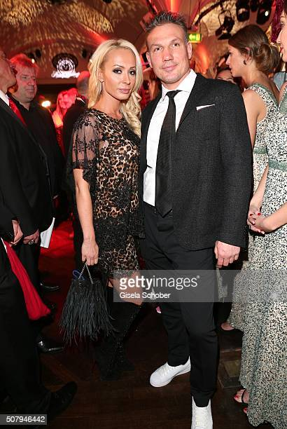 Cora Schumacher and her boyfriend Thomas Zimmermann during the Lambertz Monday Night 2016 at Alter Wartesaal on February 1 2016 in Cologne Germany