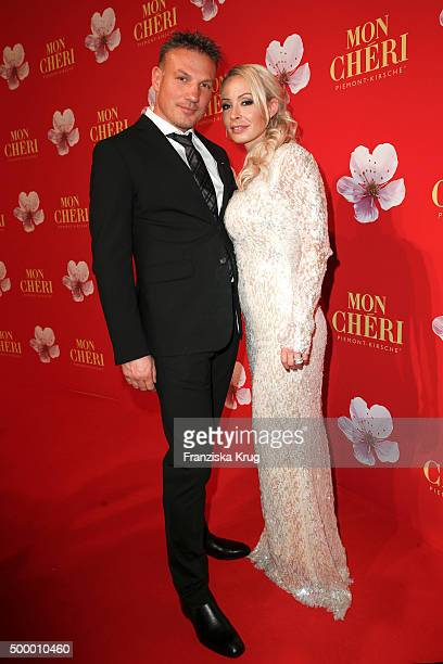 Cora Schumacher and her partner Thomas attend the Mon Cheri Barbara Tag 2015 at Postpalast on December 4 2015 in Munich Germany