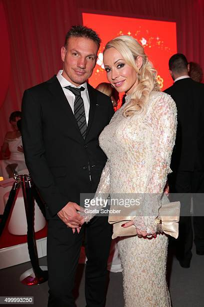 Cora Schumacher and her partner Thomas during the Mon Cheri Barbara Tag 2015 at Postpalast on December 4 2015 in Munich Germany