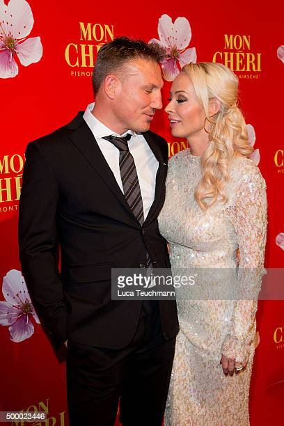 Cora Schumacher and her partner Thomas Z attend the Mon Cheri Barbara Tag 2015 at Postpalast on December 4 2015 in Munich Germany