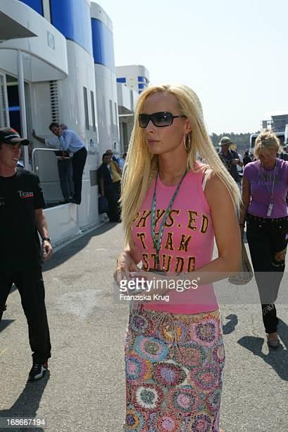 Cora Schumacher at the Formula 1 race at the Hockenheimring