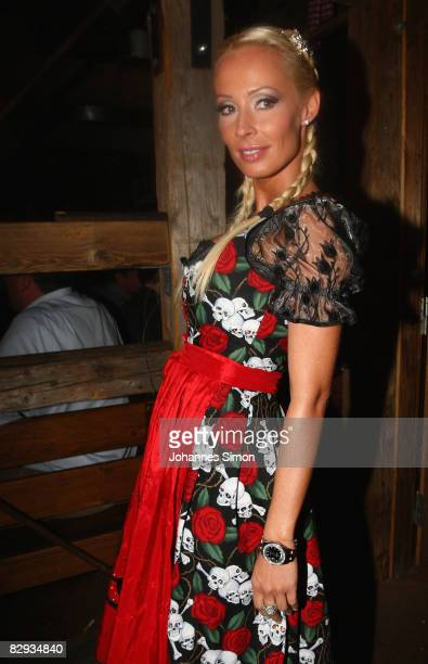 Cora Schumacher attends a party at Kaefer at the Oktoberfest beer festival on September 21 2008 in Munich Germany