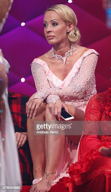Cora Schumacher reacts during the final show of the television competition 'Let's Dance' on June 5 2015 in Cologne Germany