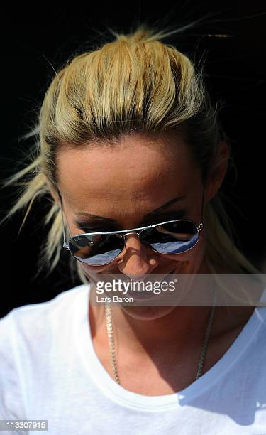 Cora Schumacher wife of Ralf Schumacher is seen after the first race of the DTM 2011 German Touring Car Championship at Hockenheim Ring on May 1 2011...