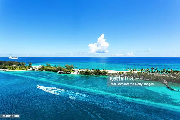 Coral reef at crystal waters at Caribbean Nassau