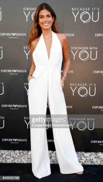 Coral Simanovich attends the presentation of the new Emporio Armani's fragances 'Stronger with you' and 'Because it's you' on September 9 2017 in...