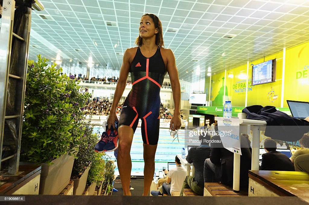 Coralie Balmy competing on the 200M Freestyle during the French Swimming Championships France on April 1 2016 in Montpellier France