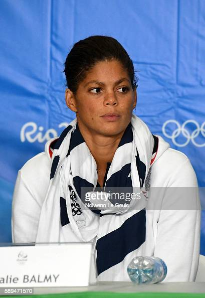 Coralie Balmy in press conference during Swimming on Olympic Games 2016 in Rio at Olympic Aquatics Stadium on August 13 2016 in Rio de Janeiro Brazil