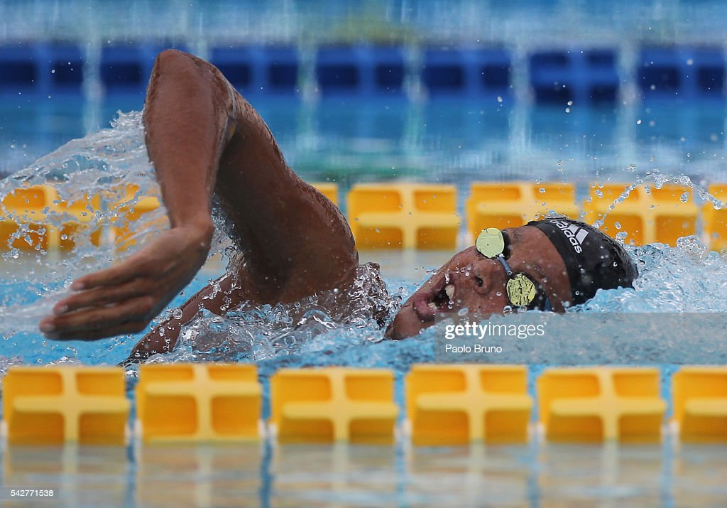Coralie Balmy of France competes in the Women's 400m Freestyle Final during the 53rd 'Sette Colli' International Swimming Trophy at Stadio del Nuoto...