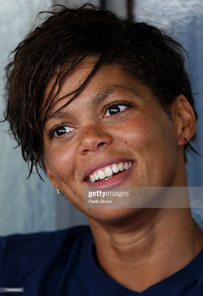 Coralie Balmy of France looks on at the International Settecolli Trophy at Foro Italico on June 13 2013 in Rome Italy