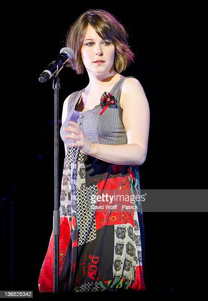 Coralie Caulier from Bezoo opens for Helene Rolles at L'Olympia on January 6 2012 in Paris France