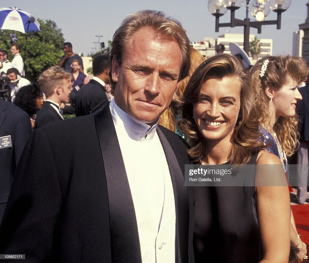 <a gi-track='captionPersonalityLinkClicked' href=/galleries/search?phrase=Corbin+Bernsen&family=editorial&specificpeople=211428 ng-click='$event.stopPropagation()'>Corbin Bernsen</a> and <a gi-track='captionPersonalityLinkClicked' href=/galleries/search?phrase=Amanda+Pays&family=editorial&specificpeople=653961 ng-click='$event.stopPropagation()'>Amanda Pays</a> during 43rd Annual Primetime Emmy Awards - Arrivals at Pasadena Civic Auditorium in Pasadena, California, United States.