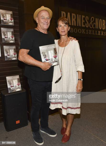 Corbin Bernsen and Amanda Pays pose for portrait at Barnes Noble at The Grove on August 31 2017 in Los Angeles California