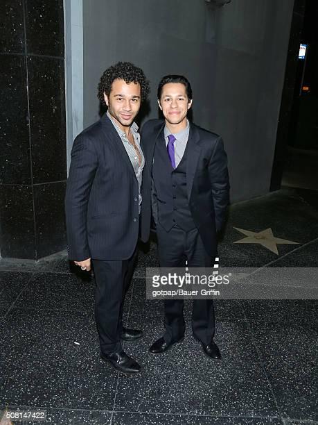 Corbin Bleu and David Del Rio are seen on February 02 2016 in Los Angeles California