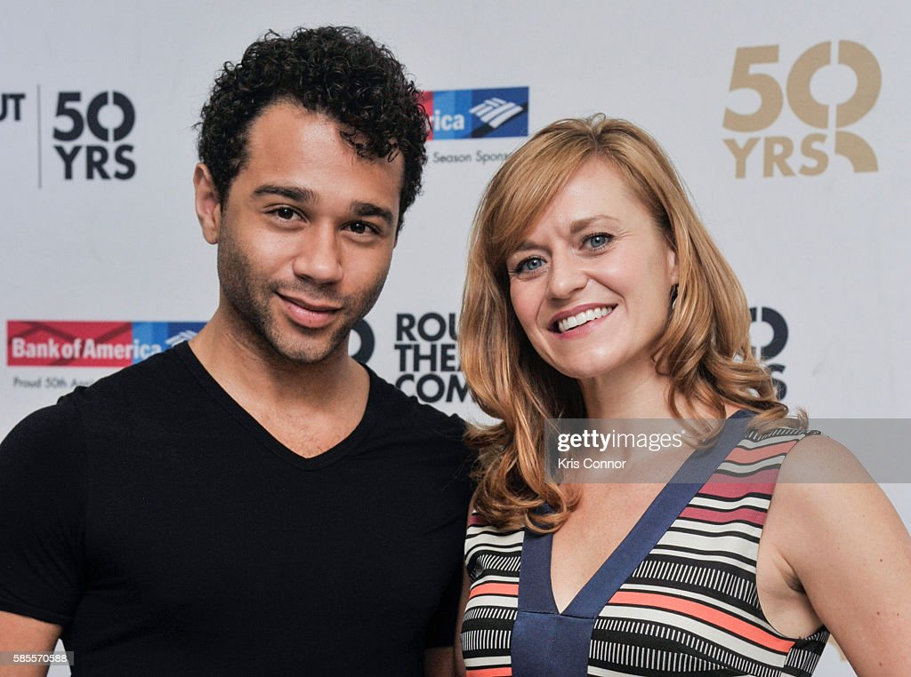 Corbin Bleu and Megan Sikora attend the 'Holiday Inn The New Irving Berlin Musical' Broadway press preview at Midtown Rehearsal Hall on August 3 2016...