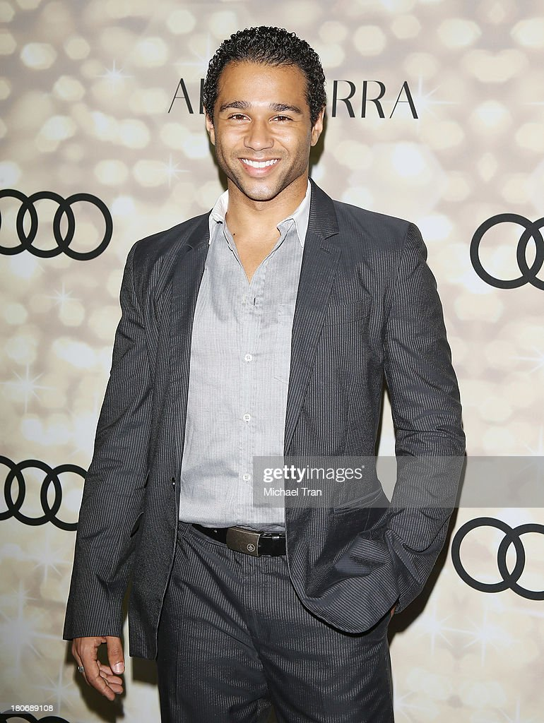 <a gi-track='captionPersonalityLinkClicked' href=/galleries/search?phrase=Corbin+Bleu&family=editorial&specificpeople=651888 ng-click='$event.stopPropagation()'>Corbin Bleu</a> arrives at the Audi and Altuzarra EMMYs week 2013 kick-off party held at Cecconi's Restaurant on September 15, 2013 in Los Angeles, California.