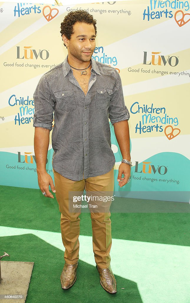 Corbin Bleu arrives at the Children Mending Hearts's 6th Annual Fundraiser 'Empathy Rocks A Spring Into Summer Bash' held at a private residence on...