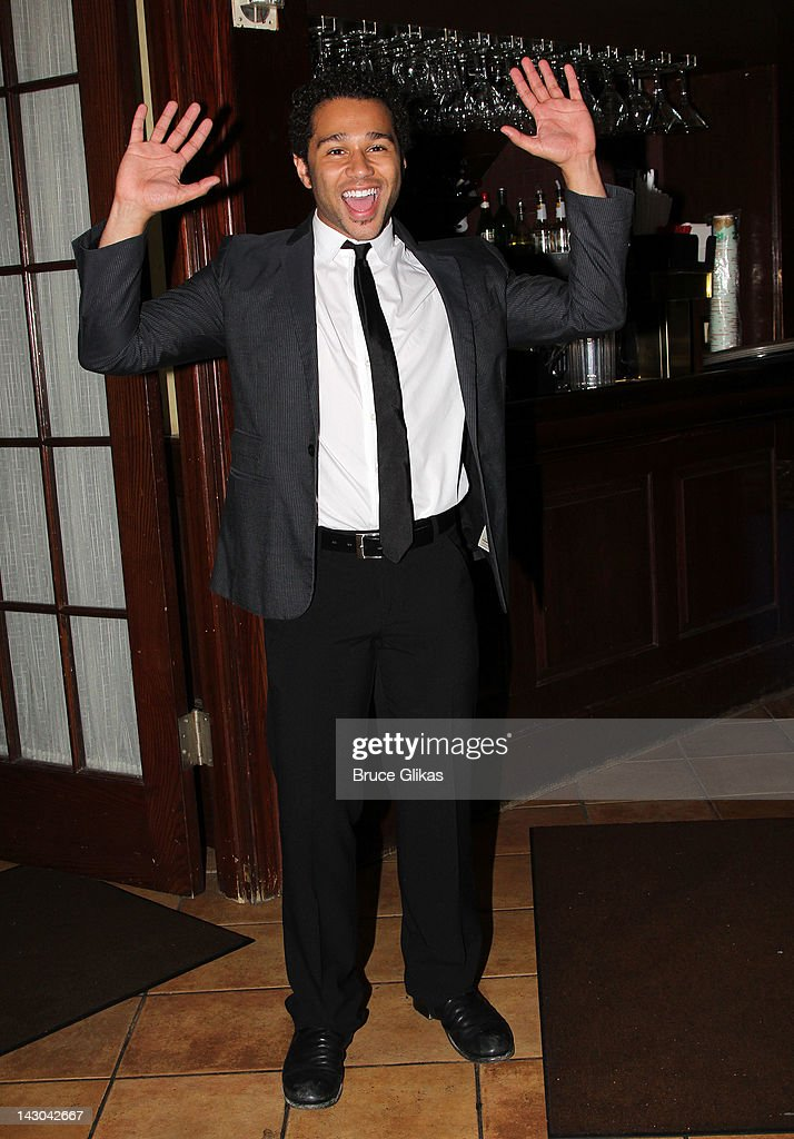 Corbin Bleu attends the after party for the 'Godspell' Broadway cast change at Tony's di Napoli on April 17 2012 in New York City