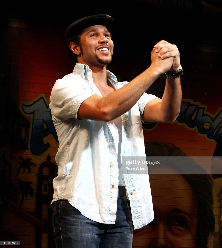 <a gi-track='captionPersonalityLinkClicked' href=/galleries/search?phrase=Corbin+Bleu&family=editorial&specificpeople=651888 ng-click='$event.stopPropagation()'>Corbin Bleu</a> joins the cast in his stage debut as 'Usnavi' in Broadway's 'In The Heights' at Richard Rodgers Theatre on January 25, 2010 in New York City.