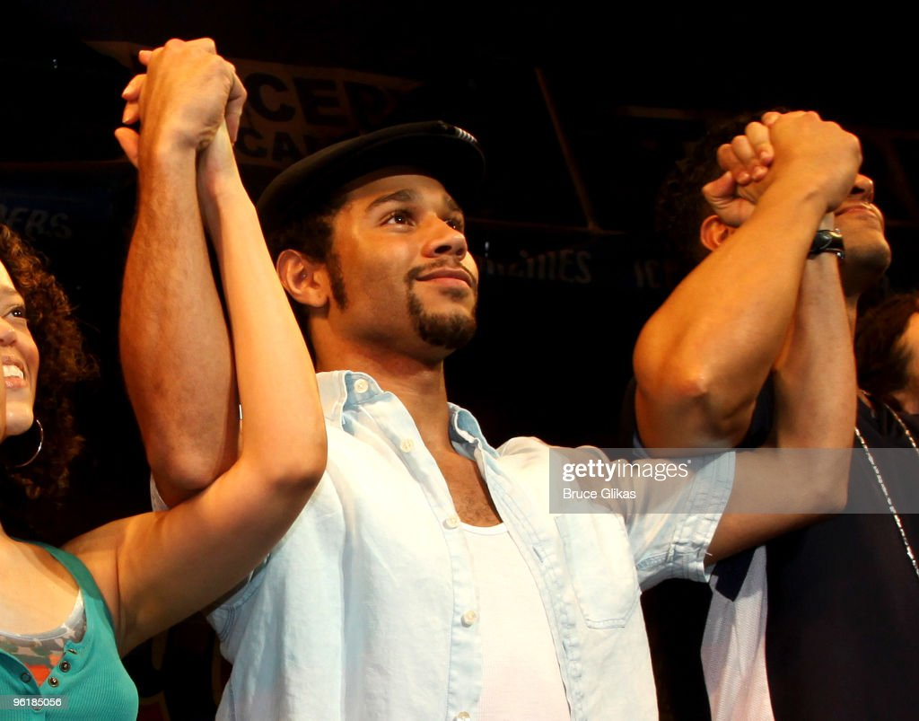 Corbin Bleu joins the cast in his stage debut as 'Usnavi' in Broadway's 'In The Heights' at Richard Rodgers Theatre on January 25 2010 in New York...
