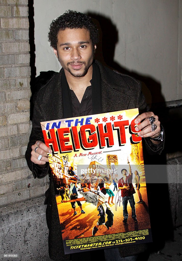 <a gi-track='captionPersonalityLinkClicked' href=/galleries/search?phrase=Corbin+Bleu&family=editorial&specificpeople=651888 ng-click='$event.stopPropagation()'>Corbin Bleu</a> joins the cast of Broadway's 'In The Heights' at Richard Rodgers Theatre on January 25, 2010 in New York City.