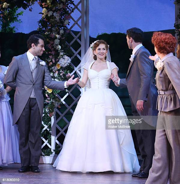 Corbin Bleu Lora Lee Gayer Bryce Pinkham Megan Lawrence and cast during the Broadway Opening Night Performance Curtain Call for 'Holiday Inn' at...